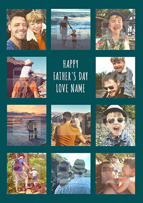 Happy Father's Day Photo Personalised Card