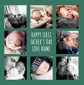 Happy First Father's Day Photo Card