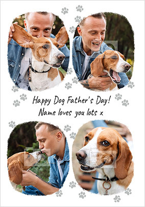 Happy Dog Father's Day Photo Card