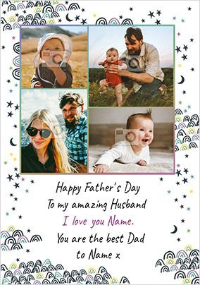 Happy Father's Day to my Amazing Husband Photo Card