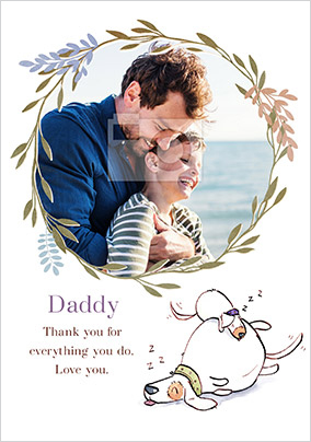 Daddy Thank You for Everything You do Photo Card