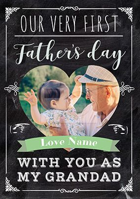 First Father's Day with Grandad Photo Card