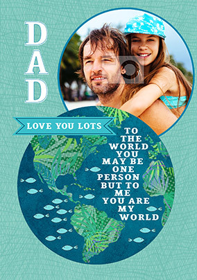 Dad You are my World Photo Card