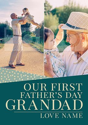 First Father's Day Grandad Photo Card