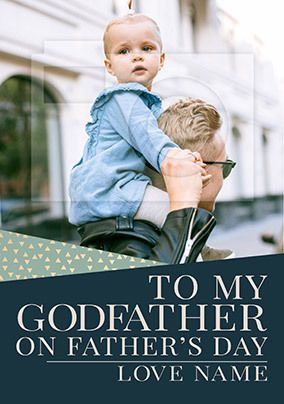Godfather on Father's Day Photo Card