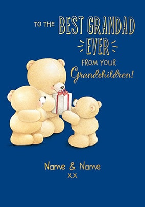 Forever Friends Best Grandad Ever Personalised Card