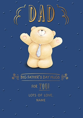 Forever Friends Big Father's Day Hugs Personalised Card