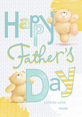 Happy Father's Day Forever Friends personalised Card