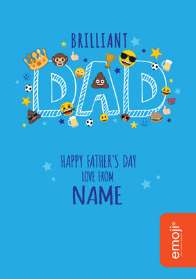 Brilliant Dad Emoji Father's Day Card