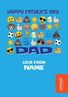 Emoji Happy Father's Day Personalised Card
