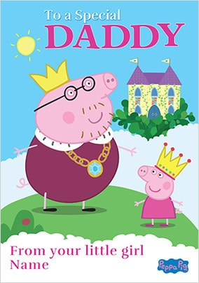 Peppa Pig Special Daddy Card