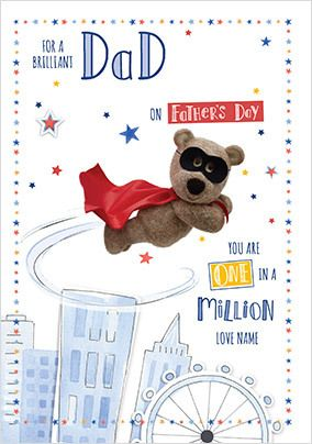 Barley Bear - Father's Day Personalised Card