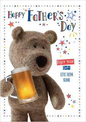 Barley Bear - Happy Father's Day Personalised Card