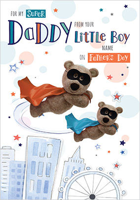 Barley Bear - From your Little Boy personalised Card