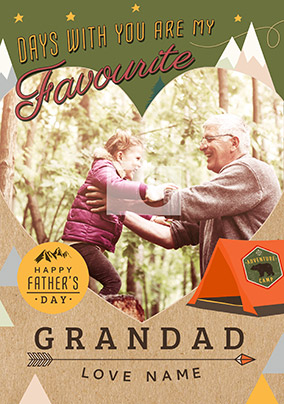 Days With You Are My Favourite Grandad Father's Day Card