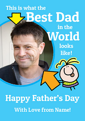 Lemon Squeezy Photo Upload Father's Day Card - Best Dad