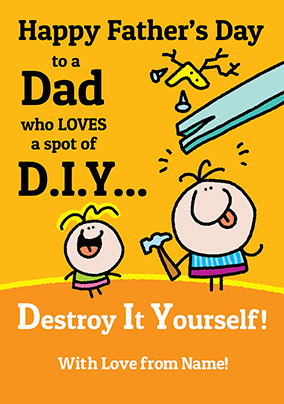Lemon Squeezy Father's Day Card - DIY