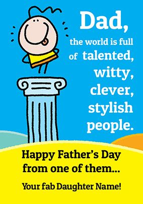 Lemon Squeezy Father's Day Card - Fab Daughter
