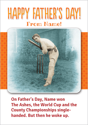 Cricket Father's Day Card - Dreaming
