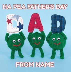 Happy Father's Day Peas Card - Knit & Purl