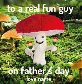 Fun Guy On Father's Day Personalised Card