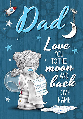 Me To You Moon & Back Father's Day Personalised Card