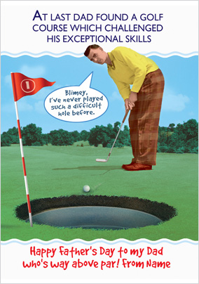 Above Par Golf Father's Day Card