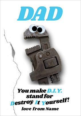 D.I.Y Personalised Father's Day Card