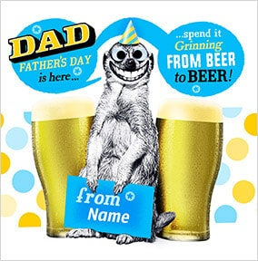 Beer To Beer Personalised Father's Day Card