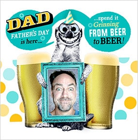 Beer To Beer Photo Father's Day Card