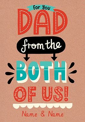 From Both Of Us Personalised Father's Day Card