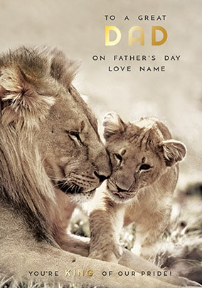 King Of The Pride Personalised Father's Day Card