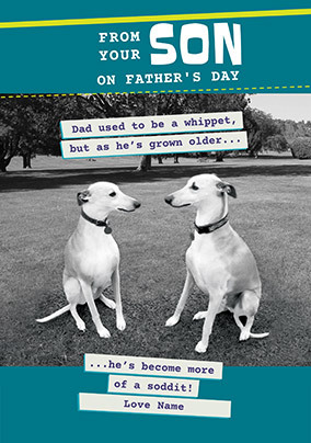 From your Son on Father's Day Personalised Card