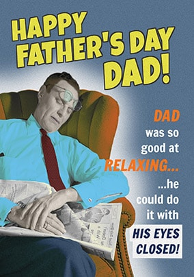 Eyes Closed Father's Day Card