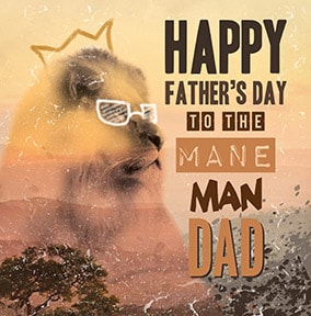 Mane Man Father's Day Card