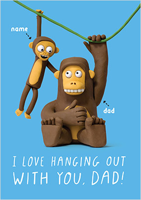 Hanging Out With Dad Personalised Card