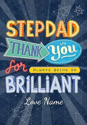 Brilliant Step-Dad Personalised Father's Day Card