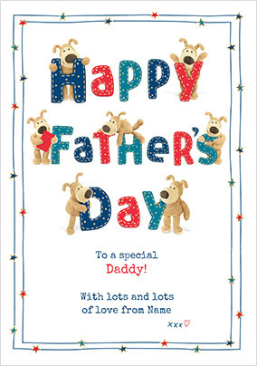 Boofle - Happy Father's Day Personalised Card