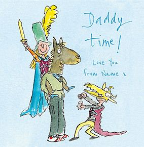 Daddy time personalised Card