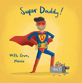 DIY Super Daddy personalised Card