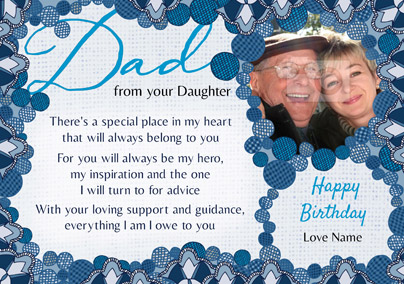 Amore - Birthday Card Dad from your Daughter
