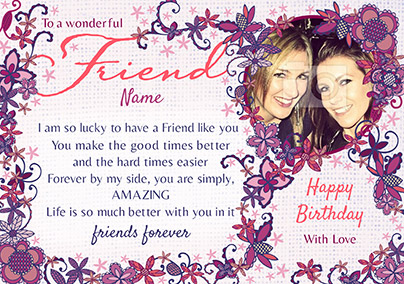 Amore - Birthday Card To a Wonderful Friend