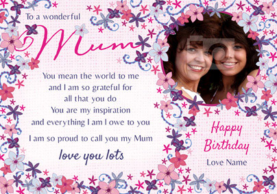 Amore - Birthday Card To a Wonderful Mum