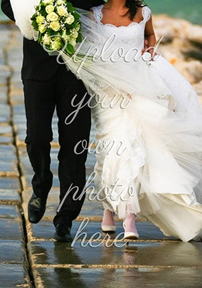 Full Photo No Text Portrait Wedding Card