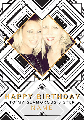 Glam Squad - Birthday Card Photo Upload Sister