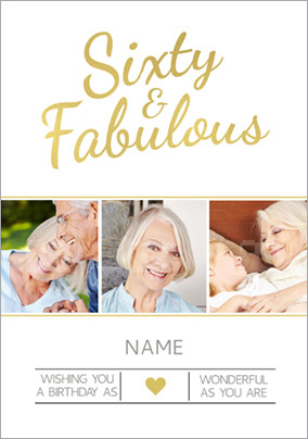 Luxe Love Affair - 60th Birthday Card Sixty & Fabulous