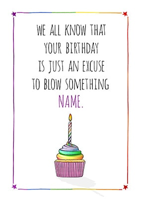 Blow Something Personalised Birthday Card