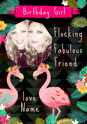 Fabulous Friend Photo Birthday Card