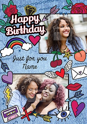 Just For You Multi Photo Birthday Card