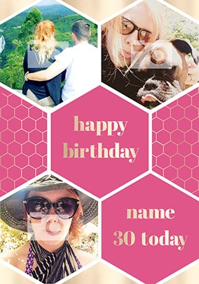 Female Multi Photo Birthday Card